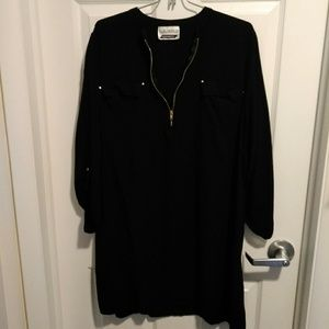 Dresses & Skirts - Black tunic/cover up size large (D127)